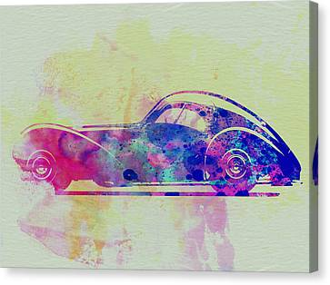 Bugatti Atlantic Watercolor 3 Canvas Print by Naxart Studio