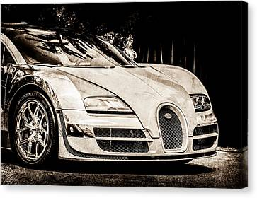 Bugatti Legend - Veyron Special Edition -0844s Canvas Print by Jill Reger