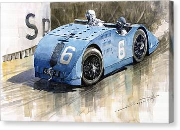 Bugatti Type 32 Tank 1923 French Gp  Canvas Print by Yuriy  Shevchuk