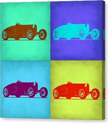 Bugatti Type 35 R Pop Art 1 Canvas Print by Naxart Studio