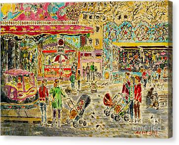Buggies On Annual Fair Canvas Print