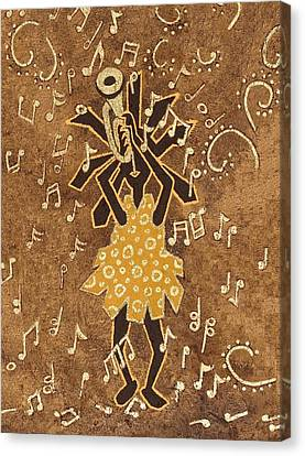 Bugle Player Canvas Print by Katherine Young-Beck