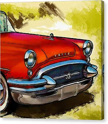Headlight Canvas Print - Buick Automobile by Robert Smith