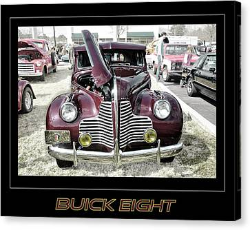 Buick Eight Retro Canvas Print by Davina Washington