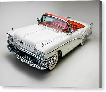 Buick Limited Convertible 1958 Canvas Print by Gianfranco Weiss