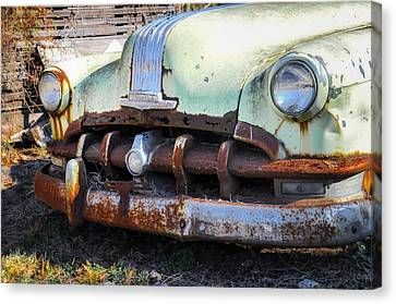 Buick Silver Streak 8 Grille Canvas Print by Bill Cannon