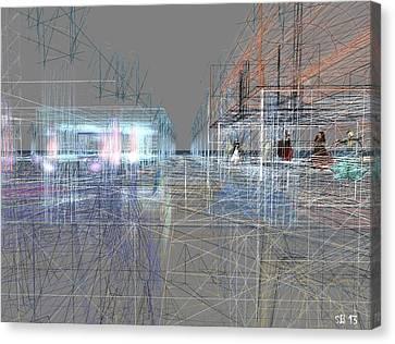 Canvas Print featuring the digital art Building A City by Susanne Baumann