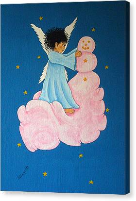 Building A Cloudman Canvas Print by Pamela Allegretto