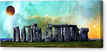 Building A Mystery 2 - Stonehenge Art By Sharon Cummings Canvas Print by Sharon Cummings