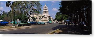 Building Along A Road, Capitolio Canvas Print by Panoramic Images