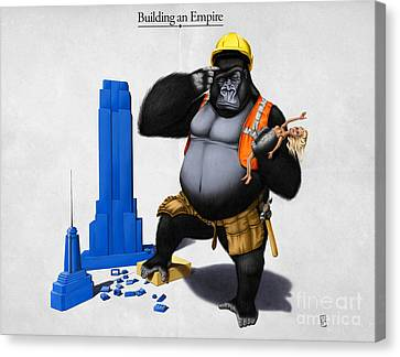 Building An Empire Canvas Print by Rob Snow