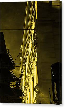 Building And Crane  Canvas Print