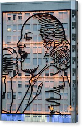 Building Art - Eva Peron - Buenos Aires Argentina Canvas Print by Jon Berghoff