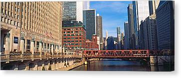 Chicago River Canvas Print - Building At The Waterfront, Merchandise by Panoramic Images