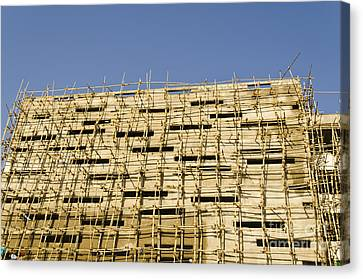 Bamboo House Canvas Print - Building Construction by Image World