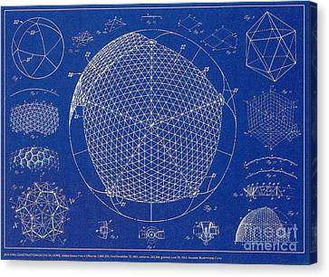 Buckminster Fuller Canvas Print - Building Construction Geodesic Dome 1951 by Science Source