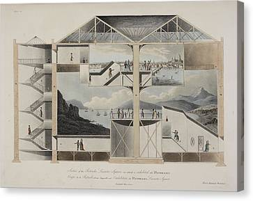 Building Illustration Of Perspective Canvas Print by British Library