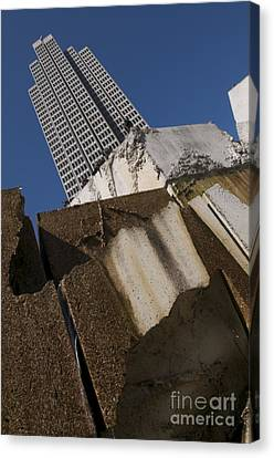 Canvas Print featuring the photograph Building Out Of Concrete by Sherry Davis