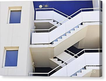 Building Staircase Canvas Print by Sami Sarkis