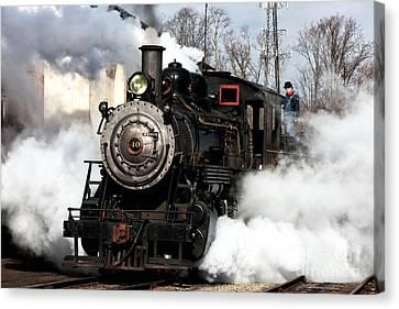 Building Steam Canvas Print by John Rizzuto