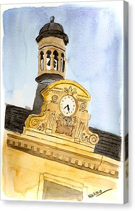 Building Top Paris Canvas Print by Keshava Shukla