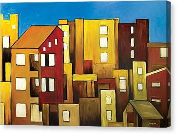 Buildings Canvas Print by Ahmed Amir