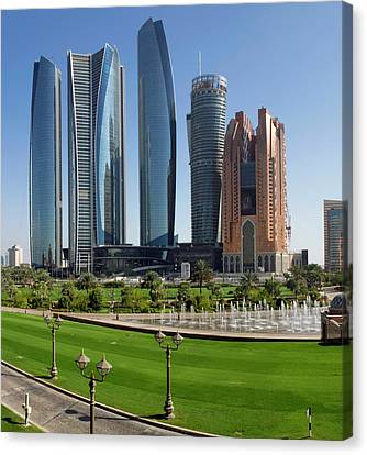 Hyatt Hotel Canvas Print - Buildings Along Corniche Road, Al by Panoramic Images