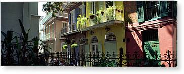 Buildings Along The Alley, Pirates Canvas Print by Panoramic Images
