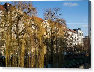 Buildings Along The Landwehr Canal Canvas Print