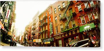 Fire Escape Canvas Print - Buildings Along The Street, Chinatown by Panoramic Images