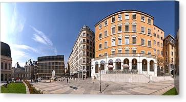 Buildings At Place Louis Pradel, Lyon Canvas Print by Panoramic Images