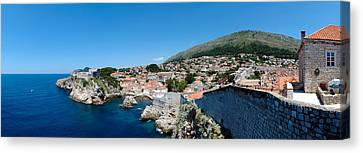 Buildings At The Waterfront, Adriatic Canvas Print