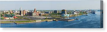 Buildings At The Waterfront, Adventure Canvas Print by Panoramic Images
