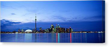 Buildings At The Waterfront, Cn Tower Canvas Print by Panoramic Images