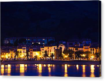 Buildings At The Waterfront, Collioure Canvas Print