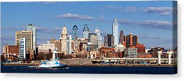 Buildings At The Waterfront, Delaware Canvas Print by Panoramic Images