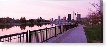 Buildings At The Waterfront, Genesee Canvas Print
