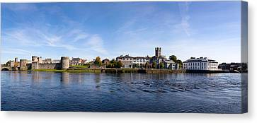 Buildings At The Waterfront, King Johns Canvas Print by Panoramic Images