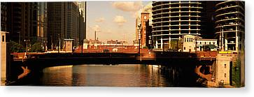 Buildings At The Waterfront, Marina Canvas Print by Panoramic Images