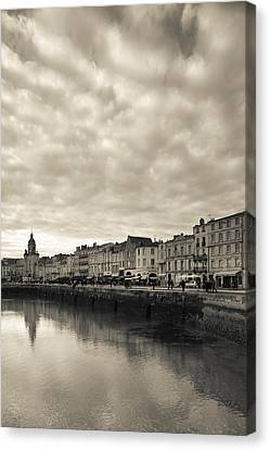 Buildings At The Waterfront, Old Port Canvas Print by Panoramic Images