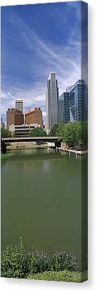 Buildings At The Waterfront, Omaha Canvas Print by Panoramic Images