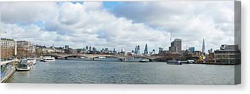 Buildings At The Waterfront, Thames Canvas Print
