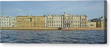 Hermitage Canvas Print - Buildings At The Waterfront, Winter by Panoramic Images