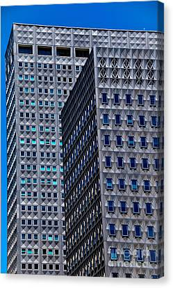 Buildings Downtown Pittsburgh Canvas Print by Amy Cicconi