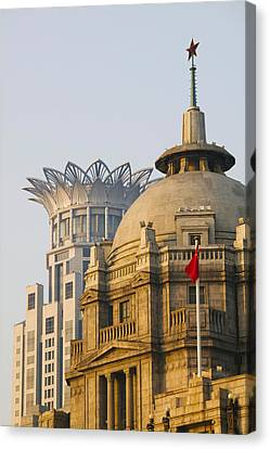 Bund Shanghai Canvas Print - Buildings In A City At Dawn, The Bund by Panoramic Images