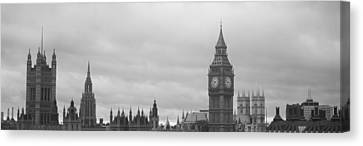Buildings In A City, Big Ben, Houses Of Canvas Print