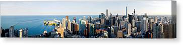 Buildings In A City, Chicago, Cook Canvas Print
