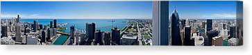 Buildings In A City, Chicago River Canvas Print by Panoramic Images