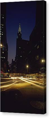 Buildings In A City, Chrysler Building Canvas Print by Panoramic Images