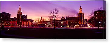 Buildings In A City, Country Club Canvas Print